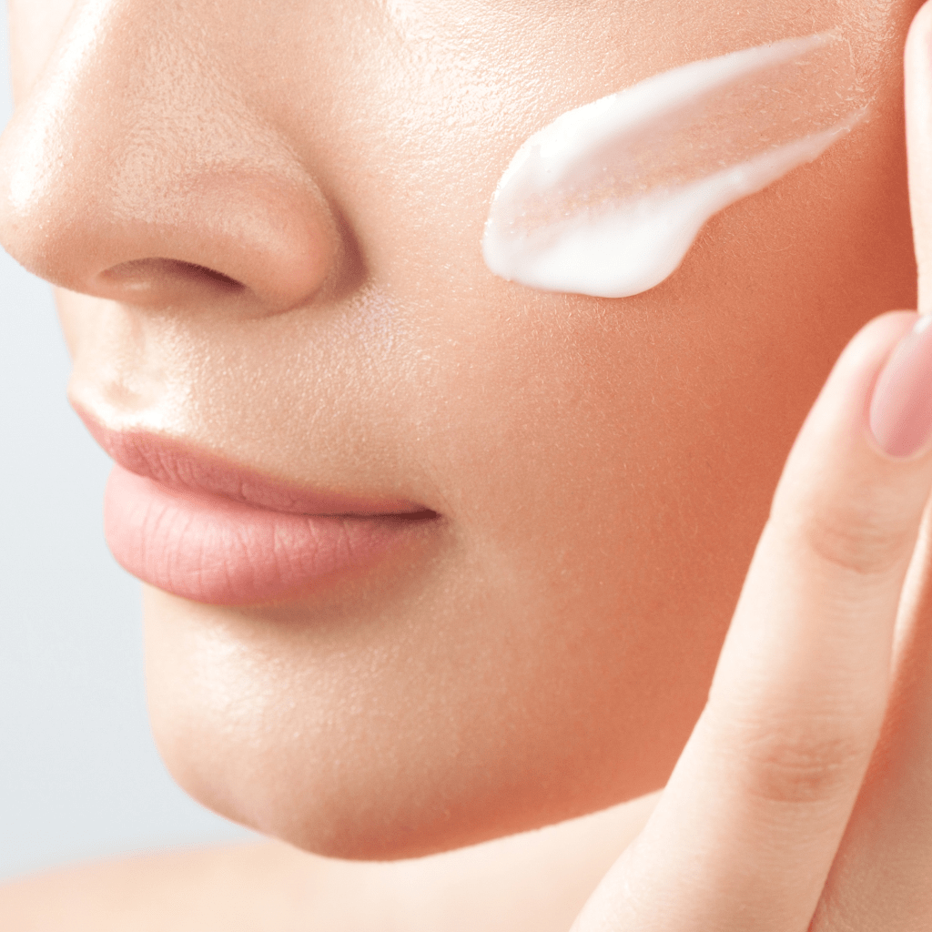 face cream with woman picture